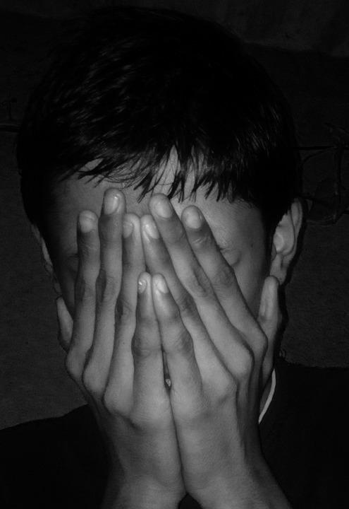 Afraid Dark Fear Scared Face Sad Hiding